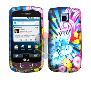 For LG Optimus T / P509 Cover Hard Case A-Flower