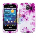 For LG Vortex VS660 Cover Hard Case H-Flower