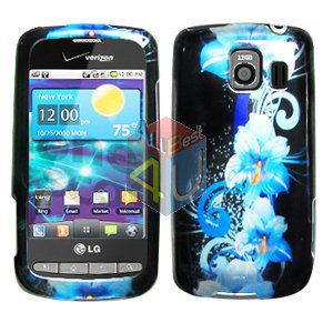 For LG Vortex VS660 Cover Hard Case Flower