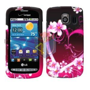 For LG Vortex VS660 Cover Hard Case Love