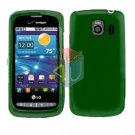 For LG Vortex VS660 Cover Hard Case Rubberized Green