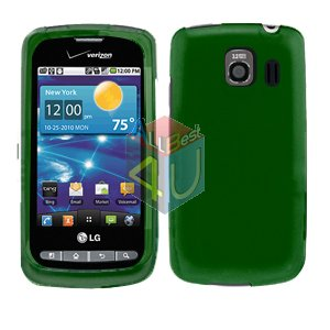 For LG Vortex VS660 Cover Hard Case Rubberized Green