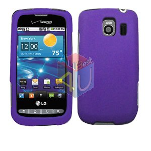 For LG Vortex VS660 Cover Hard Case Rubberized Purple