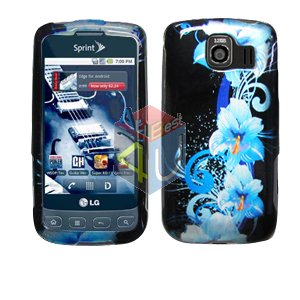 For LG Optimus S / LS-670 Cover Hard Case Flower