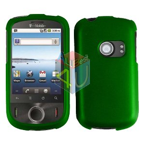 For Huawei Comet U8150 Cover Hard Case Rubberized Green