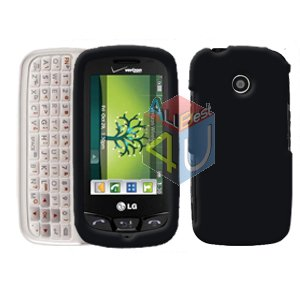 For LG Cosmos Touch VN270 Cover Hard Case Rubberized Black