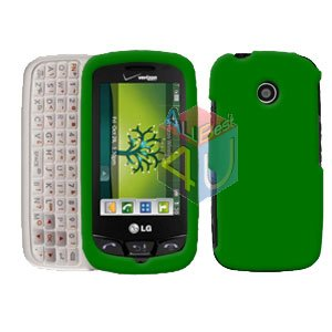 For LG Cosmos Touch VN270 Cover Hard Case Rubberized Green