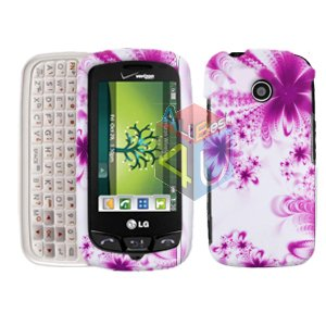 For LG Cosmos Touch VN270 Cover Hard Case H-Flower