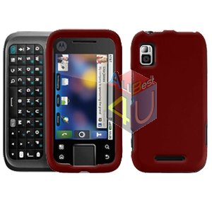 For Motorola Flipside MB508 Cover Hard Case Rubberized Red