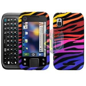 For Motorola Flipside MB508 Cover Hard Case C-Zebra