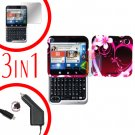 For Motorola Flipout MB511 Screen +Car Charger + Cover Hard Case Love 3-in-1