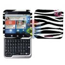 For Motorola Flipout MB511 Cover Hard Case Zebra