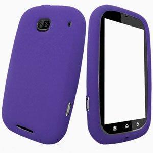 For Motorola Bravo MB520 Silicon cover soft case Purple