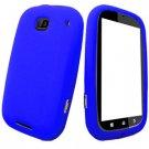 For Motorola Bravo MB520 Silicon cover soft case Blue