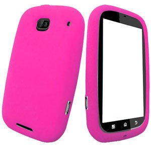 For Motorola Bravo MB520 Silicon cover soft case Hot Pink