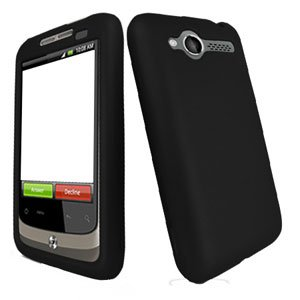 For HTC Wildfire 6225 Cover Hard Case Rubberized Black