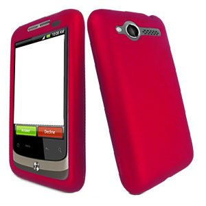 For HTC Wildfire 6225 Cover Hard Case Rubberized Rose Pink