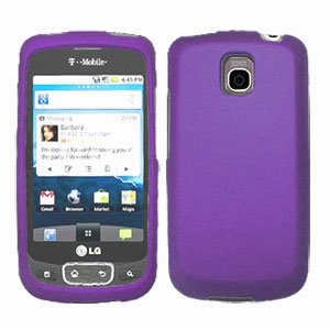 For LG Optimus One P500 Cover Hard Case Rubberized Purple