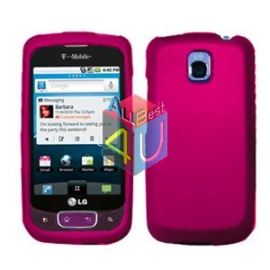 For LG Optimus One P500 Cover Hard Case Rubberized Rose Pink