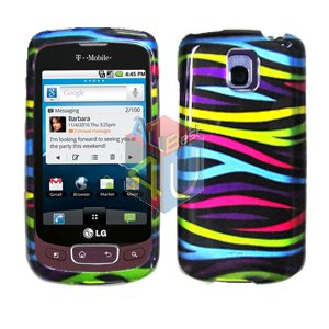 For LG Optimus One P500 Cover Hard Case Rainbow