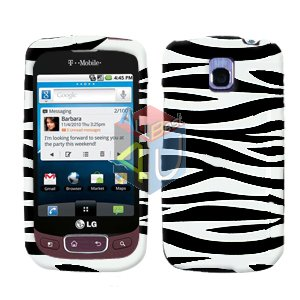 For LG Optimus One P500 Cover Hard Case Zebra