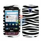 For LG Optimus T / P509 Cover Hard Case Zebra