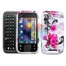 For Motorola Flipside MB508 Cover Hard Case W-Flower