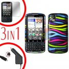 For Motorola Droid Pro A957 Screen +Car Charger +Hard Case Rainobw 3-in-1