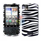 For Motorola Droid Pro A957 Cover Hard Case Zebra