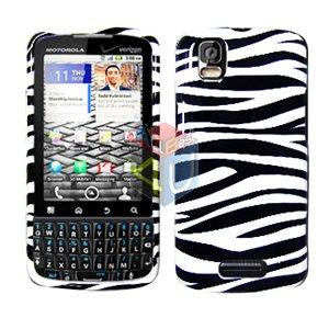 For Motorola Droid Pro A957 Cover Hard Case Zebra