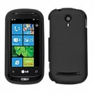 For LG Quantum C900 Cover Hard Case Rubberized Black