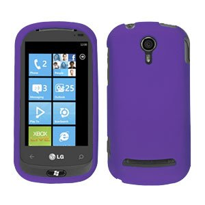 For LG Quantum C900 Cover Hard Case Rubberized Purple