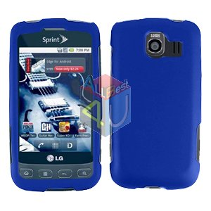 For LG Optimus U US670 Cover Hard Case Rubberized Blue