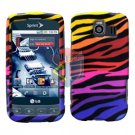 For LG Optimus U US670 Cover Hard Case C-Zebra