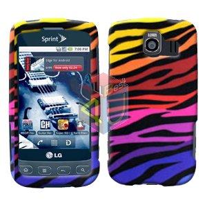 For LG Optimus U US670 Cover Hard Case C-Zebra