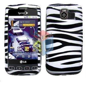 For LG Optimus U US670 Cover Hard Case Zebra