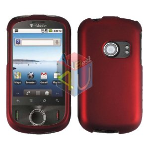 For Huawei Ideos U8150 Cover Hard Case Rubberized Red