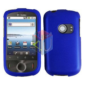 For Huawei Ideos U8150 Cover Hard Case Rubberized Blue