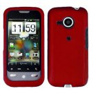 FOR HTC Droid Eris Cover Hard Case Rubberzied Red