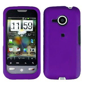 FOR HTC Droid Eris Cover Hard Case Rubberzied Purple