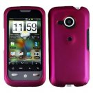 FOR HTC Droid Eris Cover Hard Case Rubberzied Rose Pink