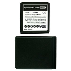For Motorola Droid A855 Extended Replacement Battery Li-ion-2300mah w/ Door Grey