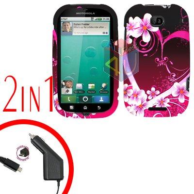 For Motorola Bravo MB520 Cover Hard Case Love 2-in-1