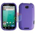 For Motorola Bravo MB520 Cover Hard Case Rubberized Purple