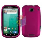 For Motorola Bravo MB520 Cover Hard Case Rubberized Rose Pink