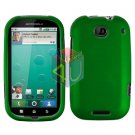 For Motorola Bravo MB520 Cover Hard Case Rubberized Green