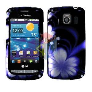 For LG Vortex VS660 Cover Hard Case B-Flower