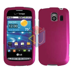 For LG Vortex VS660 Cover Hard Case Rubberized Rose Pink
