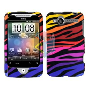For HTC Wildfire 6225 Cover Hard Case C-Zebra