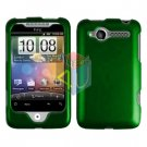 For HTC Wildfire 6225 Cover Hard Case Rubberized Green